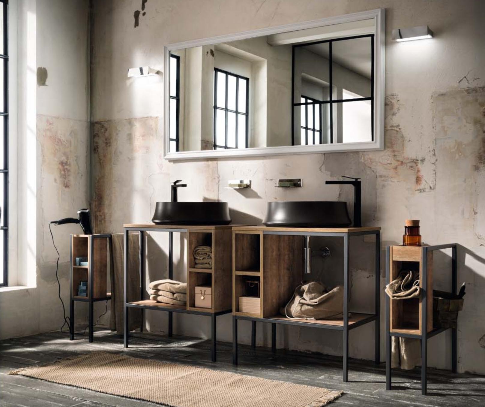 Mobili bagno industrial style arredamenti barin for Corriere arredamento