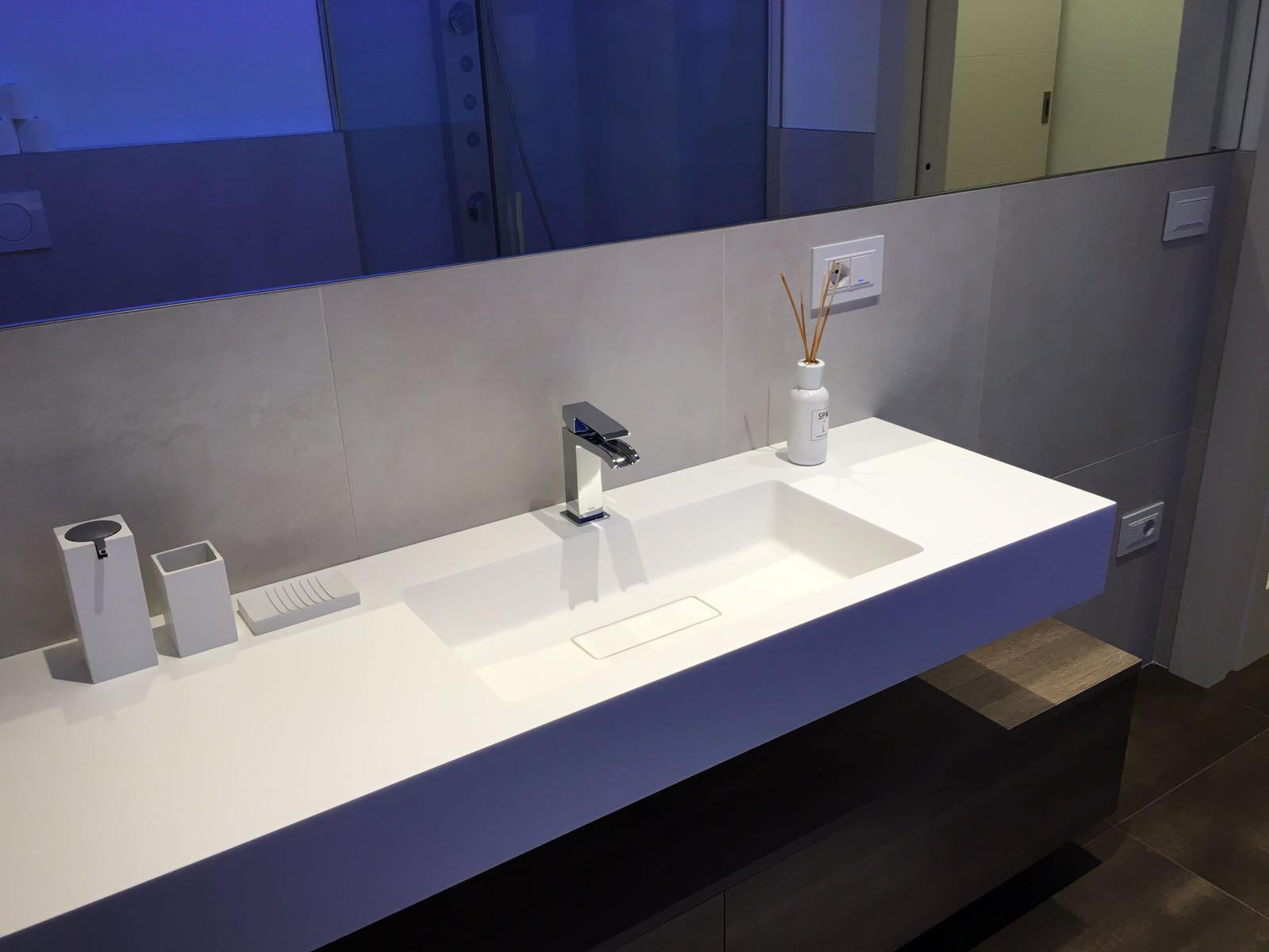 Mobile Sotto Mensola Bagno mobile bagno con mensola in betacryl - arredamenti barin