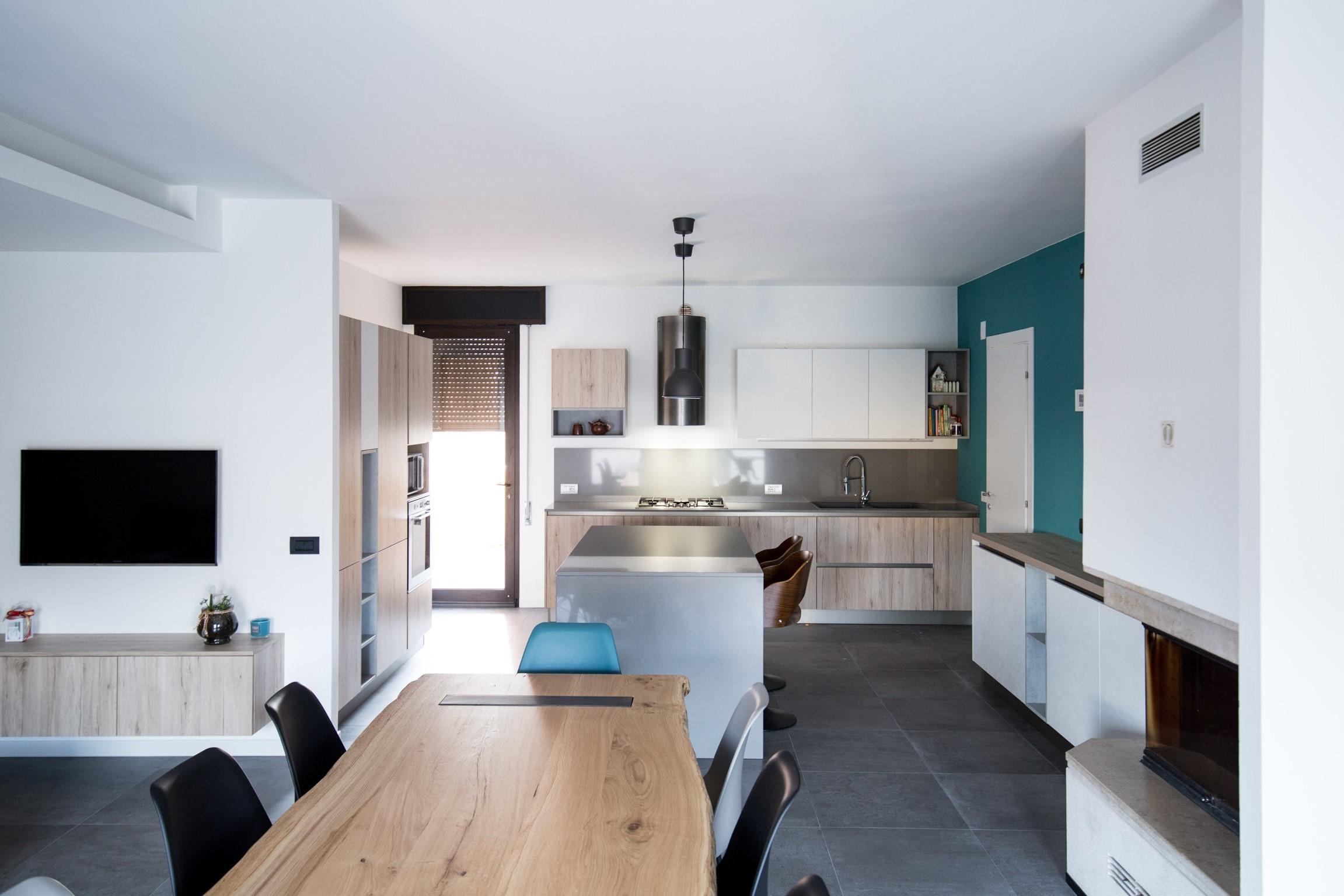 Cucina Industrial con Zona Living Open Space   Arredamenti Barin